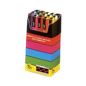 三菱鉛筆 ポスカ 細字サイズ15色セット