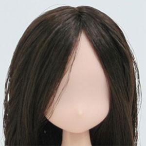 オビツ21オビツドール 21HD-F01NC02 21-01 植毛ヘッド ナチュラル ダークブラウン人形の頭 ウィッグ 髪の毛付き|yumegazai