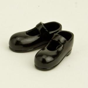 オビツ11オビツドール 11cm用 ストラップシューズ マグネット付き 黒靴 シューズ yumegazai