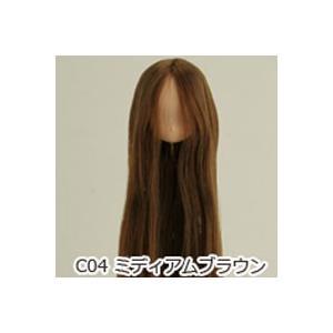 オビツ21オビツドール 21HD-01 植毛ヘッド ナチュラル ミディアムブラウン人形の頭 ウィッグ 髪の毛付き|yumegazai