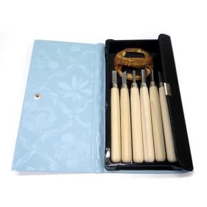 マルイチ彫刻刀 レザーケース入 6本組セット|yumegazai
