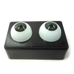 【人形の目 ビスクドール】 ビスクアイ グラスチック 緑12mm 白目部分含む UV ※人形の目|yumegazai