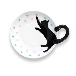 黒猫しっぽ皿 S/ドット|yumegazai
