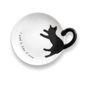 黒猫しっぽ皿 S/シンプル|yumegazai