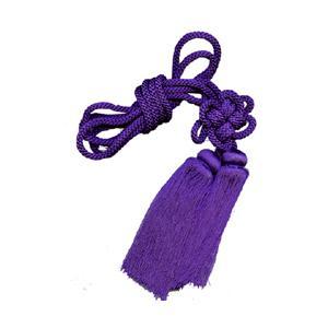 房付紐 百成瓢箪用(大) 花結 紫|yumegazai