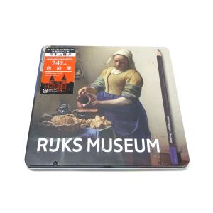 アムステルダム国立美術館×ブラジール 色鉛筆 24色セット 限定パッケージ (フェルメール×牛乳を注ぐ女)|yumegazai