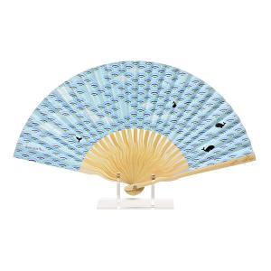 komon+ コモンプラス 和紙扇子 70型25間 青海波クジラ|yumegazai
