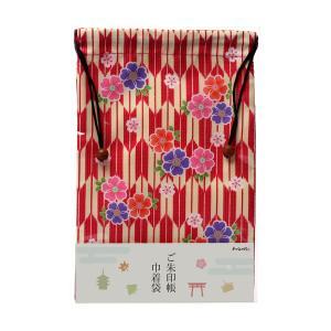 ご朱印帳巾着袋 矢絣に桜 (やがすりにさくら)|yumegazai