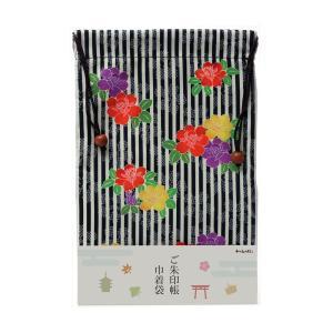 ご朱印帳巾着袋 縦縞にバラ (たてじまにばら)|yumegazai
