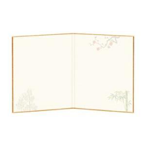 【10枚パック】 二つ折り寸松庵 片面サイズ(121×136mm) 松竹梅 3|yumegazai