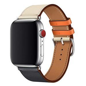 WFEAGL コンパチブル Apple Watch バンド,は本革レザーを使い、iWatch Ser...