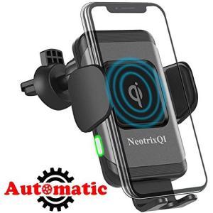 車載 Qi ワイヤレス充電器 車載ホルダー(2019年最新版)NeotrixQI 10W/7.5W携...