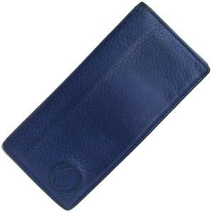 グッチ 二つ折り長札入れ ソーホーインターロッキング 322116 ブルー レザー 中古 GG ロゴ 青 メンズ 長財布 GUCCI|yumeichiba-premium