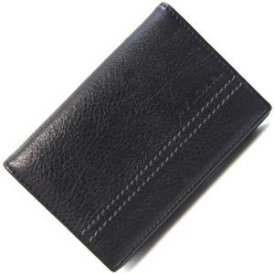 ブルガリ 名刺入れ シティ 32792 ブラック レザー 中古 黒 革 メンズ カードケース ステッチ ロゴ BVLGARI|yumeichiba-premium