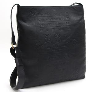 ブルガリ ショルダーバッグ コレツィオーネ 30186 ブラック レザー 中古 黒 革 文字 メンズ コレッツィオーネ BVLGARI|yumeichiba-premium