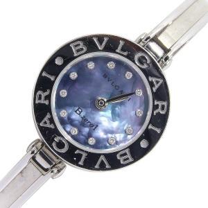ブルガリ レディースウォッチ ビーゼロワン バングルウォッチ 12Pダイヤ BZ22S クォーツ 中古 ロゴ 時計 女性用 B-zero1 BVLGARI|yumeichiba-premium