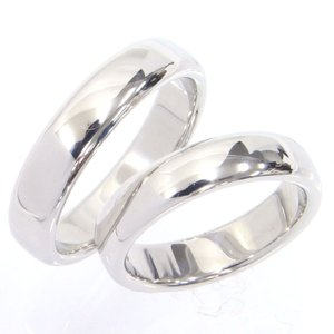 ティファニー ペアリング クラシックバンドリング 4.5MM PT プラチナ 9号 15号 中古  結婚指輪 アクセサリー TIFFANY&CO.