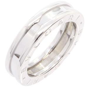 9c3ce9b95087 ブルガリ リング ビーゼロワン 1バンド XSサイズ AN852423 WG ホワイトゴールド サイズ48 8号 中古 指輪 ロゴ入り BVLGARI