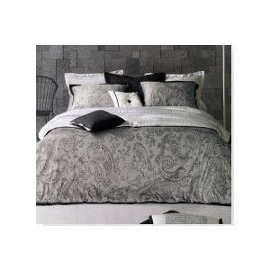■モダンでおしゃれなグレーのスタイリッシュなペーズリー柄の寝具カバーセット ■ご愛用のベッドや布団に...
