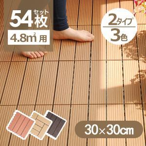ウッドデッキ人工木材 樹脂デッキ ウッドパネル 54枚セット 腐らない  北欧 組み立て簡単  送料無料 ベランダ ガーデン right
