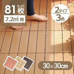 ウッドデッキ 人工木 樹脂 81枚セットウッドパネル 腐らない  北欧 組み立て簡単 ベランダ ガーデン right|yumeka