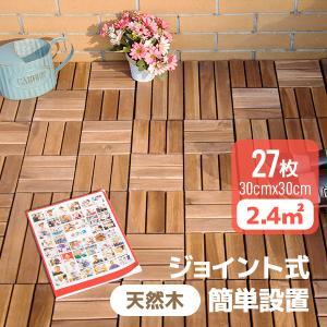 ウッドデッキ 送料無料人工木 樹脂 27枚セットウッドパネル 腐らない  北欧 組み立て簡単 ベランダ ガーデン right|yumeka