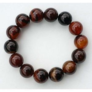 天然石 ブレスレット パワーストーン タイガーアイ 【メノウ】 メール便 送料無料|yumekairo