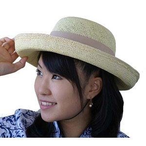 UVカット つば広 麦わら帽子 天然草|yumekairo