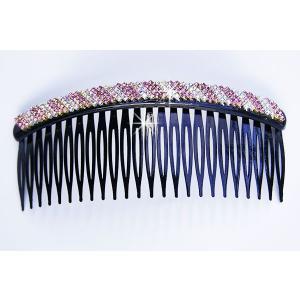 ヘアコーム 斜め縞ラインの髪留め ヘアアクセサリーのロングコーム メール便 送料無料 yumekairo