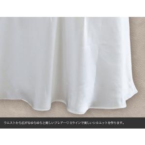 スリップ  レース付き シルク100% チュールレース サテン 白/ホワイト ドレスインナー 他カラバリ3色 メール便OK|yumekairo|12
