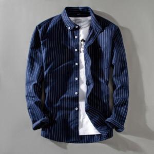 ボタンダウンシャツ メンズ 長袖 ストラップ シンプル スリム 新作 カジュアル Yシャツ 通勤 就...