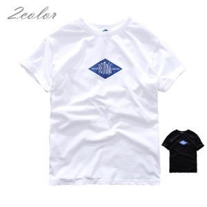 Tシャツ メンズ  半袖Tシャツ ロゴT 文字 カットソーアメカジ プリントTシャツ カレッジ   ...