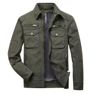 ジャケット メンズ MA36 ミリタリージャケット 裏起毛 保温 防寒|yumekakaku
