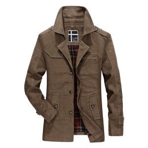 ジャケット メンズ 無地 ブルゾン エポーレット付き ミリタリーアウター|yumekakaku