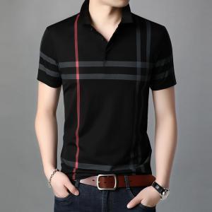 ポロシャツ メンズ 半袖 チェック 涼しい カジュアル シャツ 夏物 ゴルフウェア トップス