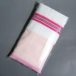ビニール袋1本入れ加工 フェイスタオル用 オリジナルタオルなどを1本入れ加工して、記念品や粗品としてお渡ししてみては?|yumekoboshop