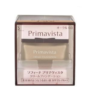 《花王》 ソフィーナ プリマヴィスタ クリームファンデーション オークル03 SPF15 PA++ 30g|yumekurage