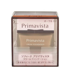 《花王》 ソフィーナ プリマヴィスタ クリームファンデーション オークル07 SPF15 PA++ 30g|yumekurage