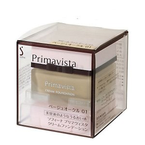 《花王》 ソフィーナ プリマヴィスタ クリームファンデーション ベージュオークル01 SPF15 PA++ 30g|yumekurage