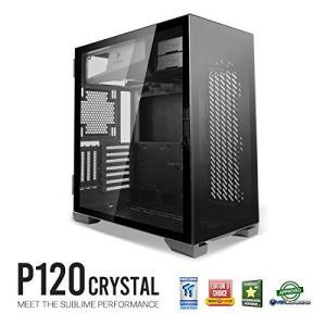 【Antec】P120 Crystal スイングドア式強化ガラスパネル搭載のATX対応ミドルタワーPCケース|yumemirai-store