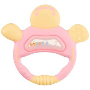 リッチェル Richell 歯がため ケース付 かめさん ピンク 3か月頃から対象|yumemirai-store