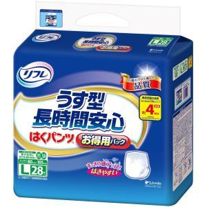 リフレ はくパンツ うす型長時間安心 お得用パック Lサイズ 28枚 【ADL区分:介助で歩ける方】|yumemirai-store