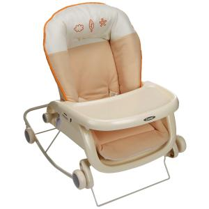 コンビ Combi ローラックチェア プルメア S ペールオレンジ (新生児~2歳頃対象) 多目的ロッキングローラック|yumemirai-store