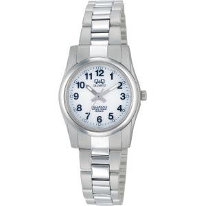 [シチズン キューアンドキュー]CITIZEN Q&Q 腕時計 SOLARMATE (ソーラーメイト) ソーラー電源 アナログ表示 5気圧防水 ホワイト H971-204 レディース|yumemirai-store
