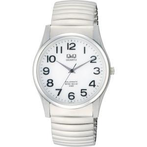 [シチズン キューアンドキュー]CITIZEN Q&Q 腕時計 SOLARMATE (ソーラーメイト) ソーラー電源 アナログ表示 5気圧防水 ホワイト H970-214 メンズ|yumemirai-store