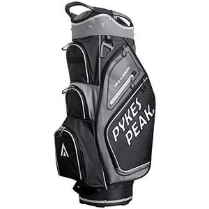 【公式】 PYKES PEAK「パイクスピーク」ゴルフバッグ【軽量 2.4kg 全6色 14本収納】 キャディーバッグ (カートタイプ【47インチ対応/9.5 型】 ゴルフ カートバ yumemirai-store