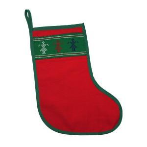 クリスマスソックス プレゼント エスニック レッドカレン族 yumenetshop