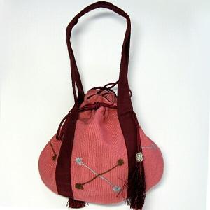 きんちゃく 和装バック エスニック 手提げバッグ 刺繍入り巾着 エスニック 山ガール アウトドア ファッション yumenetshop