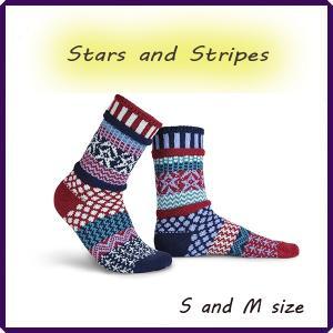 靴下 【ギフト】  ソックス くつした ソルメイト Stars and Stripes solmate socks 女子キャンプ 山ガール ファッション 富士登山|yumenetshop