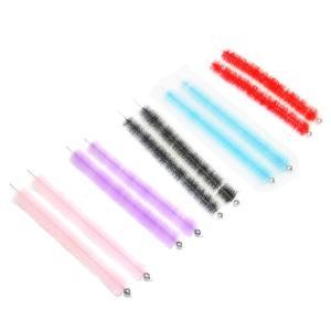 ハブ毛 ハブブラシ パープル/ピンク/ブルー/レッド/ブラック 2本セット アウトドア ファッション
